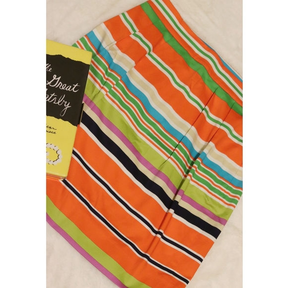 Kate Spade | NEW colorful stripe A-line mini skirt